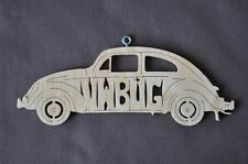 Volkswagen VW  Bug  Vintage  Car Wood Christmas Ornaments Hand Cut USA
