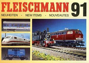 Fleischmann Neuheiten Prospekt 1991 D GB F brochure model railways Modellbahn