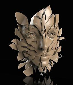 3D STL Model WOMAN FACE for CNC Router Aspire 3D Printer Engraver Carving Cut 3D