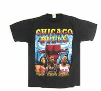 Vintage Chicago Bulls 1996 Champions T-Shirt REPRINT XL 2XL DD178