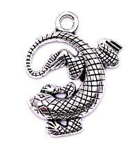 Gekko Salamandra Lagartija Colgante Amuleto de Collar Suministros Artesanía Joya