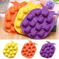 Ananas Eiswürfelform Silikon Mould Form Frucht Schokoladen Einfrieren Werkzeug