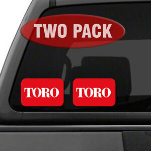 """TORO Logo - TWO PACK - 5.5"""" Tractor Implement Cart Mower Logo / Decal / Sticker"""