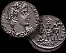 Constantine l. (The Great) Emperor 307-337 Ad / Ae Follis Ancient Coin + Coa,