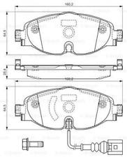 Bremsbelagsatz, Scheibenbremse für Bremsanlage Vorderachse BOSCH 0 986 494 660