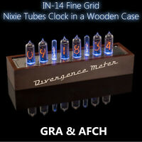 IN-14 Fine Grid Vintage NIXIE Tubes Clock (USB) Divergence Meter [GRA&AFCH]