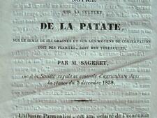 Sageret livre ses conseils sur la culture de la patate.