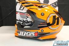 JUST 1 NEW SIZE LARGE L DIRTBIKE HELMET ATV MX OFFROAD ORANGE RAPTOR