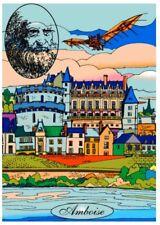 Tableau à colorier en velours - Château d'Amboise