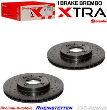 Brembo XTRA LINE Bremsscheiben Gelocht Vor VW GOLF 2 3 4 CADDY PASSAT POLO LUPO
