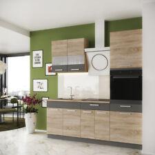 Küche ALINA mit Hochschrank 200 cm Küchenzeile Einbauküche Sonoma Eiche