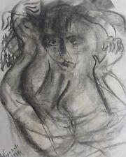 Alexandra Korsakowa: Sign. Orig. Kohlezeichnung (2) 1988 - Russische Avantgarde