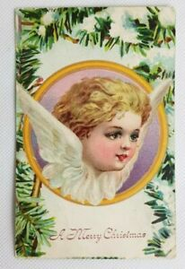 Antique Vintage Art Postcard Angel A Merry Christmas Unposted