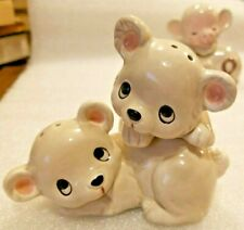 New ListingVintage Ceramic White Bear Salt and Pepper Shakers Made in Japan