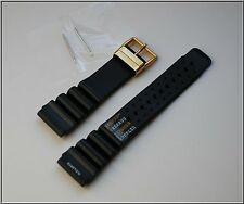 24MM DIVERS WATCH STRAP ND TIME, N.D. LIMITS. BLACK. CITIZEN AQUALAND PROMASTER
