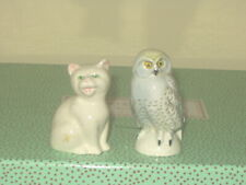 Goebel West Germany Owl and Cat Figurines