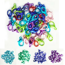50pcs 12mm Rainbow Lobster Clasps DIY Jewelry Necklace Bracelet Making Acces