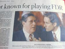 1943-2014 EDWARD HERRMANN OBITUARY ACTOR KNOWN FOR PLAYING FDR GILMORE GIRLS