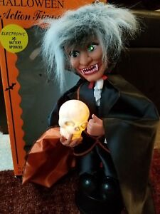 "Vintage rennoc Halloween dracula 16"" electronic action figure box light up sound"