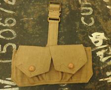 Original Military WW2 Canvas Ammo Case Pouch Ammunition British Uniform (5334)