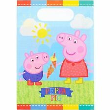 Peppa Pig Loot Bags - Pack of 8 NEW