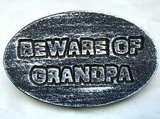 "Beware of Grandpa plastic mold reusable casting mould 9.75"" x 6"" x 3/4"" thick"