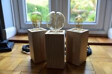 STYLISH WOODEN RETRO STYLE LAMP (E27), ON/OFF SWITCH, DIMMABLE