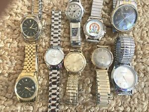 Lot (9) VTG Watches Elgin, Longines Weems, Timex,US Navy Comm, Reliance Repair??