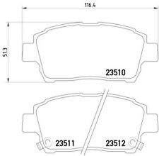 FOR TOYOTA PRIUS YARIS VERSO FRONT GENUINE MINTEX OE QUALITY BRAKE PADS MDB2029