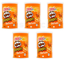 5 x Pringles Paprika Flavor Potato Chips Small Can 70g 2.5oz