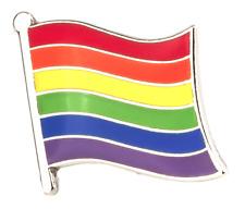 Rainbow Flag Metal Pin Badge - LGBT Lesbian Gay Diversity Pride Equality Symbol