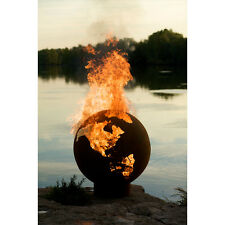 "Fire Pit Art  Third Rock Globe - 36"" Round Wood Burning Fire Pit, FREE SHIPPING!"