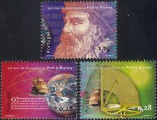 Portugal 2002 Nunes/Mathematician/Sailing Ship/Sextant/People/Globe 3v set b7567