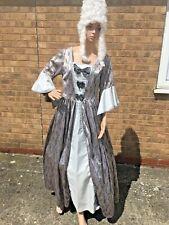 Regency Gown / Marie Antoinette Silver , Size 14