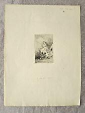 Eau-forte, Façade d'une maison, XIXème, Adolphe Hervier