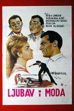 LOVE & FASHION BEBA LONCAR CKALJA BULAJIC 1960 RARE EXYU MOVIE POSTER BEOGRAD