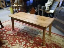 Shaker design solid Oak coffee table hand made polyurethane finish Red oak