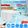 Air Conditioner Cold/Heat 1100W Window Desk Cooling Heating 24 Hours Dual Use