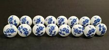 16 Vintage Blue & White Floral Drawer  Door Pulls Knobs in Blue Willow Style