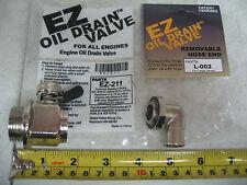 Cummins ISX QSX15 Maxxforce 13 EZ Oil Drain Valve & 90° Hose End # EZ-211 L-002