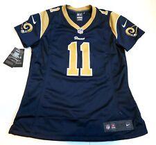 d3765d0c0b1 Women's Nike Los Angeles Rams Home Jersey Navy Blue Cream NFL on Field ...
