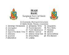 USMC IRAQI KURD LANGUAGE DISK-MP3+PDF BOOKS+BONUS