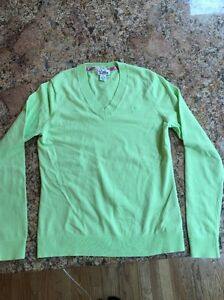 Lilly Pulitzer Light Green Long Sleeve Cotton/nylon Sweater Wm's Size Small