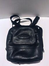 Vintage Leather Case Logic Walkman Case With Clipping Shoulder Strap Black