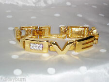 "NEW Exquisite JOAN RIVERS Message  ""I LOVE YOU""  Bracelet (Made by Edger for JR)"