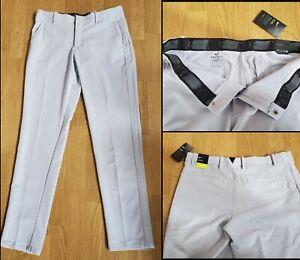 Nike Golf Flex Pants Slim Dri-Fit White BV0273-042 Men's Size 36x34 NWTs