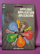 New listing New Rock Guitar Patch Iron On Applique C & D Visionary Inc