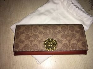 COACH Colorblock Tea Rose Envelope Wallet