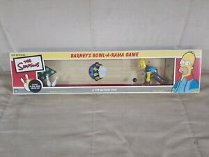 * THE SIMPSONS BARNEY'S BOWL-A-RAMA GAME A TIN ACTION TOY - 2002 New Collectible