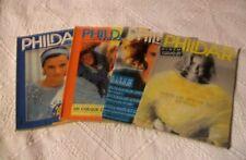 LOT de 4 catalogues tricot PHILDAR n° 136 - 143 - 200 et 228/Année 1986 à 1993